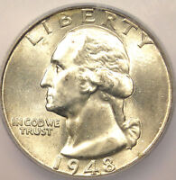 1948 WASHINGTON QUARTER 25C - ICG MINT STATE 67 -  COIN IN MINT STATE 67