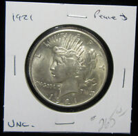 1921 $1 PEACE DOLLAR. UNCIRCULATED. KEY DATE 1ST YEAR 0119161