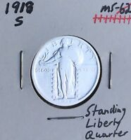 1918-S      KEY DATE   STANDING LIBERTY QUARTER