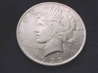 1922 PEACE DOLLAR SUPERIOR DOLLAR WITH DOUBLING OF OBVERSE PROFILE   55