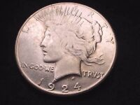 1924-S PEACE DOLLAR SUPERIOR KEY DATE DOLLAR COIN   10