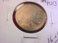 1913 BUFFALO NICKEL VARIETY I RAISED GROUND FINE COIN  4013