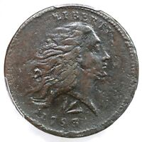 1793 S-11B R-4 PCGS VF DETAILS LETTERED EDGE WREATH LARGE CENT COIN 1C