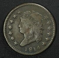 1814 CLASSIC HEAD COPPER LARGE CENT
