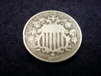 1867 SHIELD NICKEL OUTSTANDING COIN  112
