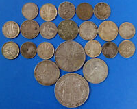 22 PIECE MIXED LOT 925 STERLING SILVER COIN 1.930OZ TOTAL PU