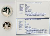 1986 STATUE OF LIBERTY TWO COIN COMMEMORATIVE SET PROOF HALF & DOLLAR COINS