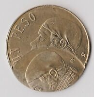 MEXICO 1 PESO N.D. DOUBLE STRUCK QUITE  W/ 50  D/S WITH AN