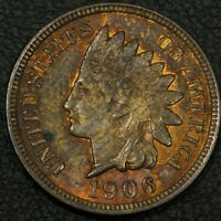 1906 INDIAN HEAD CENT COPPER PENNY   BEAUTIFUL