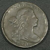 1801 DRAPED BUST COPPER LARGE CENT   HAMMERED RIMS