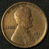 1911 S LINCOLN WHEAT CENT COPPER PENNY   CLEANED
