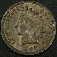 1907 INDIAN HEAD CENT COPPER PENNY