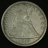 1859 S SEATED LIBERTY SILVER DOLLAR