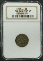 1856 FLYING EAGLE CENT PENNY NGC XF 45