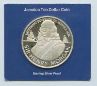 1974 JAMAICA $10 PROOF COIN STERLING SILVER 1.6 OZ. FRANKLIN
