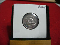 2003 W  CANADA  1  NICKEL 5 CENTS  COIN  PROOF LIKE SEALED  03W   HIGH  GRADE