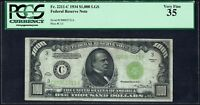 1934 $1000 ONE THOUSAND DOLLAR FEDERAL RESERVE NOTE FR2211C PCGS VF 35