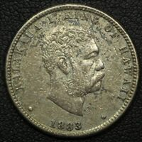 1883 HAWAII KING KALAKAUA SILVER QUARTER   EX JEWELRY