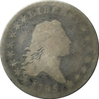 1795 FLOWING HAIR SILVER HALF DOLLAR