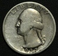 1932 D GEORGE WASHINGTON SILVER QUARTER