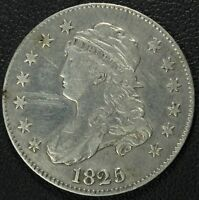 1825 CAPPED BUST SILVER QUARTER   SUPERB DETAILS    OBVERSE SCRATCH