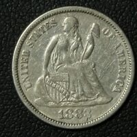 1883 SEATED LIBERTY SILVER DIME   CLEANED