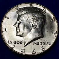 1966 KENNEDY HALF DOLLAR DDO FS 101/CONECA DDO 005   BUSINESS STRIKE DDO