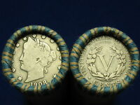 @ NICE SHOTGUN ROLL FULL OF LIBERTY V NICKELS FROM OLD COLLECTION 1883 1912 @