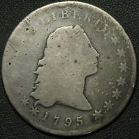 1795 FLOWING HAIR SILVER DOLLAR - SLIGHT BEND