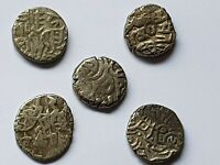 SUPERB LOT OF 5 ANCIENT UNCERTAIN ISLAMIC SILVER DRACHMS INT