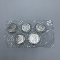 5 DECADES OF SILVER DOLLARS 1879 1887 1899 1900 1921