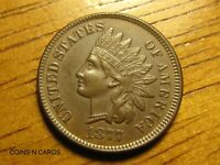 1877 1C INDIAN HEAD CENT CHOICE UNCIRCULATED KEY TO SERIES 4