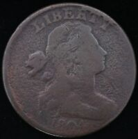 1804 DRAPED BUST LARGE CENT   COIN HAS NICE DETAILS   EXTREM