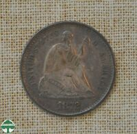 1872 S SEATED LIBERTY HALF DIME   EXTRA FINE DETAILS