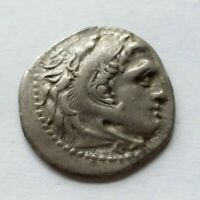 UNUSUALLY LARGE GREEK ALEXANDER THE GREAT AR DRACHM MILETOS