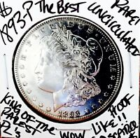 1893 P MORGAN  UNCIRCULATED  KING OF THE ST PLS  GORGEOUS PI