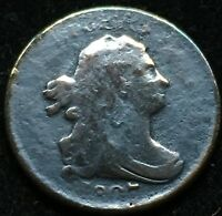 BEAUTIFUL CIRCULATED DETAILS DRAPED BUST 1807 HALF CENT. GRE