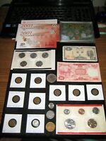 COIN LOT MINT SET OLD COINS SILVER WORLD COINS INDIAN WHEATS