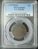 1793 S-1 AMERI. FLOWING HAIR CHAIN CENT PCGS PO 01