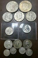 US SILVER COIN LOT WITH 2 HIGH GRADE QUARTERS