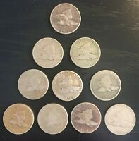 LOT OF TEN 10 1857 FLYING EAGLE CENTS SHIPS FREE