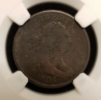 1804 DRAPED BUST HALF CENT 1/2C COPPER NGC FINE DETAILS