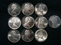 1966 CANADA SILVER DOLLARS   10 DOLLAR COINS HERE VERY NICE
