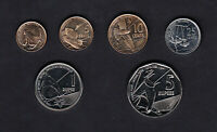 SEYCHELLES SET OF 6 COINS   1 CENT TO 5 RUPEES  2016  UNC