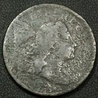1794 LIBERTY CAP FLOWING HAIR COPPER LARGE CENT - CORROSION