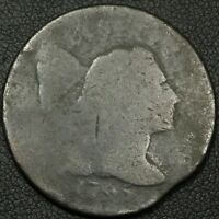 1795 CLIP ERROR LIBERTY CAP FLOWING HAIR COPPER LARGE CENT