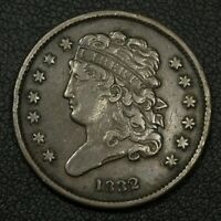 1832 CLASSIC HEAD COPPER HALF CENT