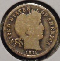 BARBER DIME - 1911 - GOTTA SELL 'EM ALL - $1 UNLIMITED SHIPPING-71