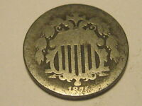 1875 SHIELD NICKEL ROUGH