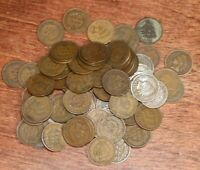 LOT OF 80 INDIAN HEAD CENTS - GOOD CIRCULATED 1880 TO 1908 DATES - 6503